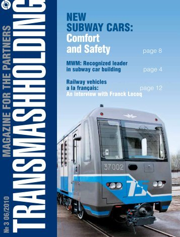 neW subWAy cARs: comfort and safety