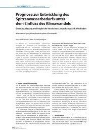 Prognose zur Entwicklung des Spitzenwasserbedarfs unter dem ...