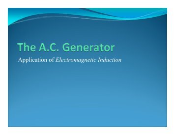Application of Electromagnetic Induction - ASKnLearn