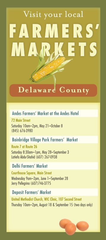 Delaware County - Watershed Agricultural Council