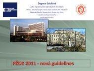 PŽOK 2011 - Česká společnost anesteziologie, resuscitace a ...