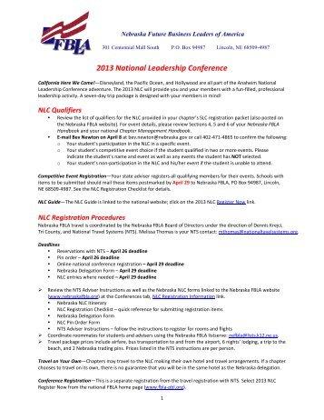 2013 National Leadership Conference - Nebraska FBLA