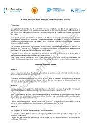Charte de dépôt et de diffusion électronique des thèses