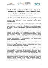 Descargar nota de prensa - Velo-City 2011