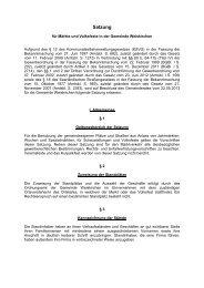 Satzung für Märkte und Volksfeste - Weiskirchen