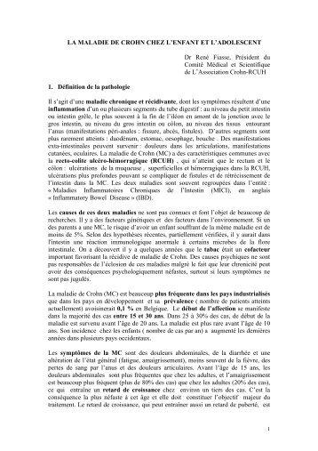 LA MALADIE DE CROHN CHEZ L'ENFANT ET L'ADOLESCENT Dr ...
