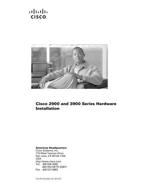 Cisco 2900 And 3900 Series Hardware Installation