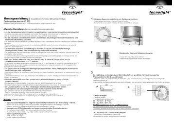 Montageanleitung (*.pdf) - tecnolight Leuchten GmbH