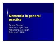 Dementia in general practice
