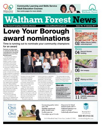 LYB award nominations - Waltham Forest Council