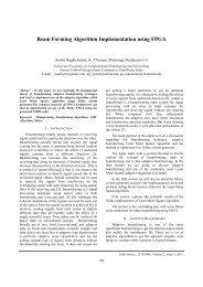 Beam Forming Algorithm Implementation using FPGA - IRD India