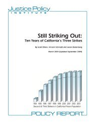 Still Striking Out - Justice Policy Institute
