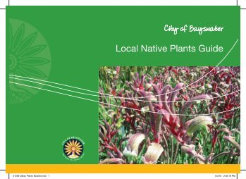 Local Native Plants Guide - City of Bayswater