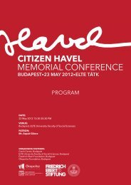 CITIZEN HAVEL MEMORIAL CONFERENCE - FES Budapest