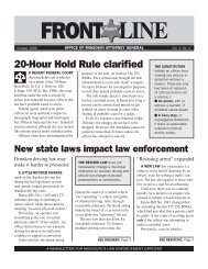 october 1996 frontline - Missouri Attorney General