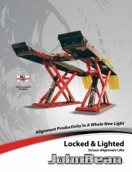 Locked & Lighted Alignment Lifts - Ctequipmentguide.ca
