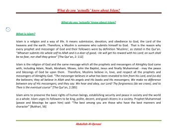 What do actually know about Islam? - The Quran Blog - Enlighten ...