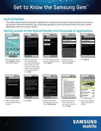 Using Android Market - US Cellular
