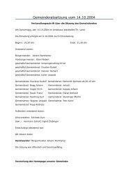 Gemeinderatssitzung vom 14.10.2004 - Waidhofen an der Thaya-Land
