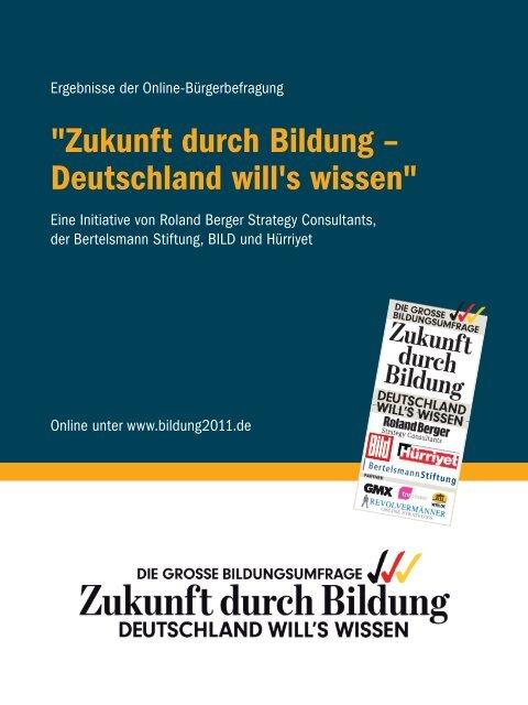 """""""Zukunft durch Bildung – deutschland will's wissen"""""""