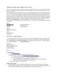 American Studies - Ursuline Academy