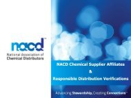 Power Point Presentation on Supplier Affiliate Program and ... - NACD