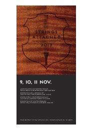 STRINGS ATTACHED 2012, eine Werkschau der Schweizer ...