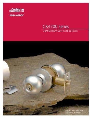 CK4700 Series - Corbin Russwin