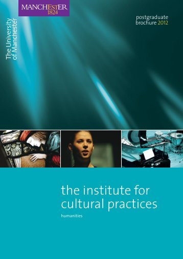 the institute for cultural practices - School of Arts, Languages and ...