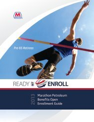 Pre-65 2013 Benefits Open Enrollment Guide - myMPCbenefits.com