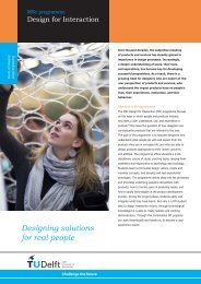 Designing solutions for real people - TU Delft