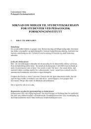 Retningslinjer for søknad om støtte til studentekskursjoner