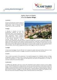 Egitto, Sharm el Sheikh Veraclub Queen Village - Planetario Viaggi