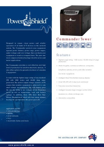 PowerShield Commander Tower UPS Brochure