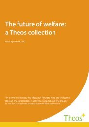 The future of welfare a theos collection combined