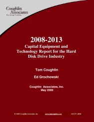 Capital Equipment and Technology Report for the Hard Disk Drive ...