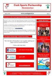 January 2012 - Cork Sports Partnership