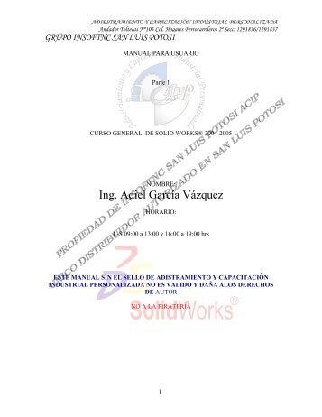 Descargar Curso Solid Works 2004 - Mundo Manuales