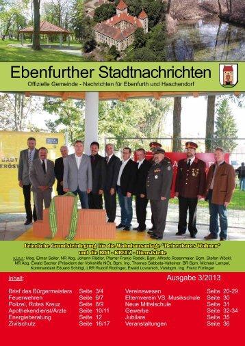 Ebenfurther Stadtnachrichten vom September 2013