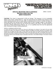 BMW R100GS/R/PD Special Mounting and ... - Works Shocks