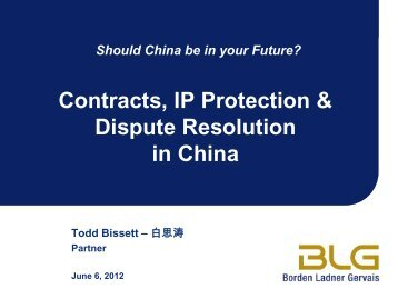 Contracts, IP Protection & Dispute Resolution in ... - Grant Thornton