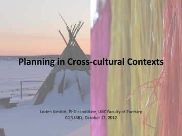 Planning in Cross-cultural Contexts - Ideal.forestry.ubc.ca