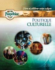 culturelle - Ministère de la Culture et des Communications