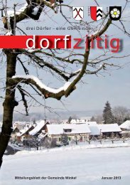 Dorfziitig Januar 2013 - Gemeinde Winkel