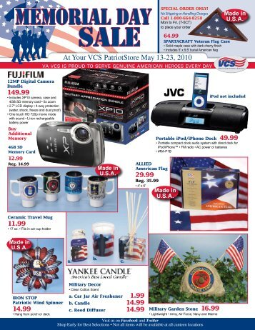 Memorial Day SALE - Veterans Canteen Service