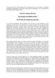Vortrag von Prof. Dr. Johano Strasser - Friedrich-Ebert-Stiftung