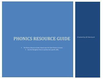 Phonics Resource Guide