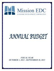 2013 Budget - City of Mission