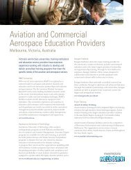 Aviation and Commercial Aerospace Education ... - Invest Victoria