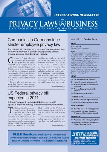 PL&B International 105 - Privacy Laws & Business